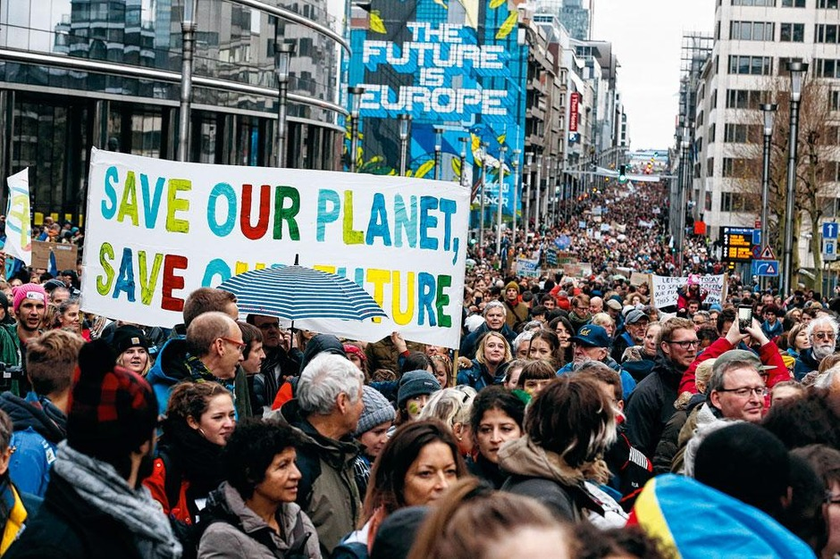 Klimaatbetoging in Brussel