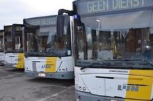 Zware hinder in heel Limburg door staking chauffeurs De Lijn