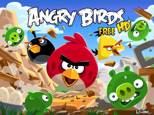 Angry Birds vliegen overal