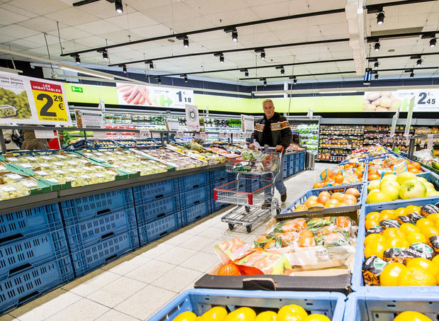 Carrefour loopt achterstand op Delhaize in