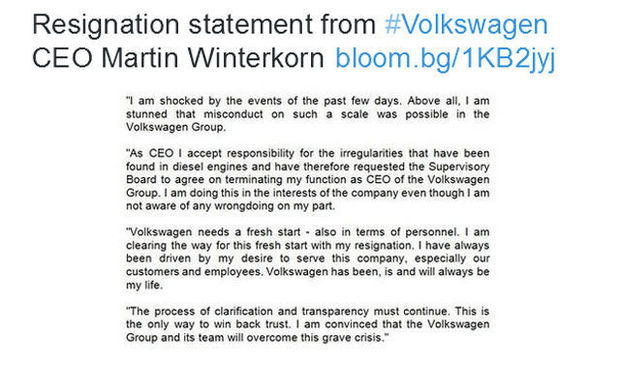 statement Winterkorn